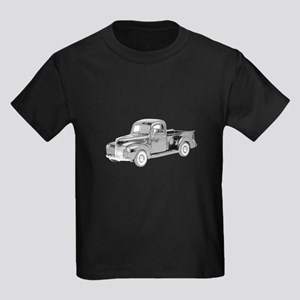 Ford Pickup 1940 -colored Kids Dark T-Shirt