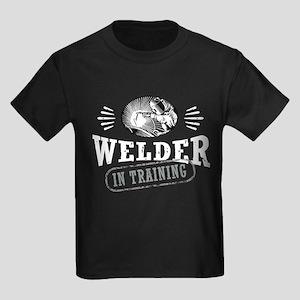 Welder In Training Kids Dark T-Shirt