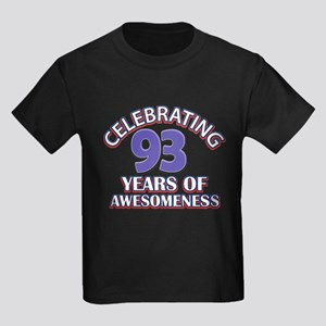 Celebrating 93 Years Kids Dark T-Shirt