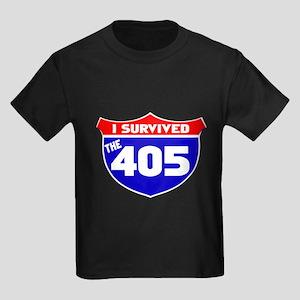 I survived the 405 Kids Dark T-Shirt