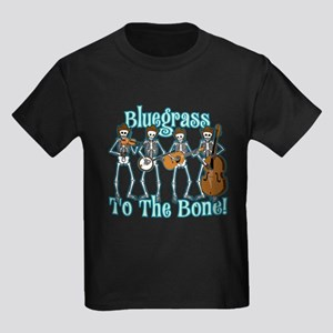 Bluegrass Bones! Kids Dark T-Shirt