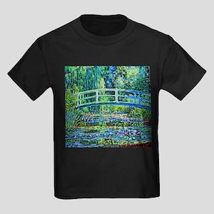 Monet - Water Lily Pond Kids Dark T-Shirt