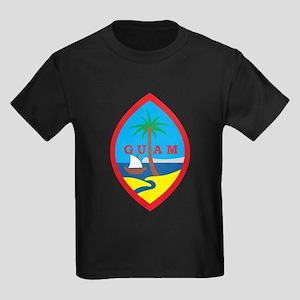 Guam Coat Of Arms Kids Dark T-Shirt