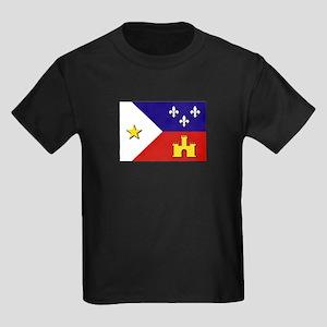 Flag of Acadiana Kids Dark T-Shirt