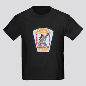 Ketchikan Airport Fire Kids Dark T-Shirt