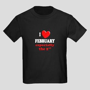February 2nd Kids Dark T-Shirt