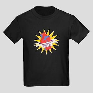 Heart Surgery Survivor Kids Dark T-Shirt