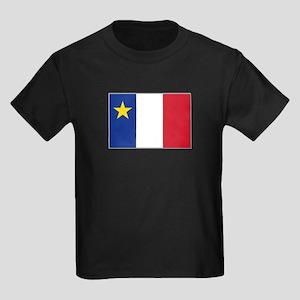 Flag of Acadia Kids Dark T-Shirt