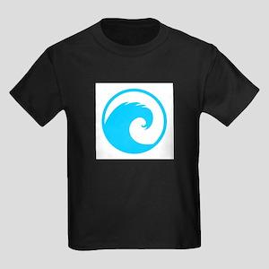 Ocean Wave Design Kids Dark T-Shirt