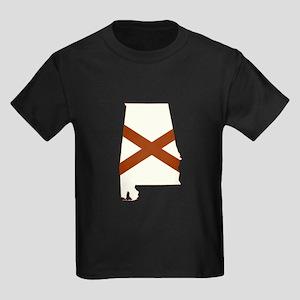 Alabama Flag Kids Dark T-Shirt