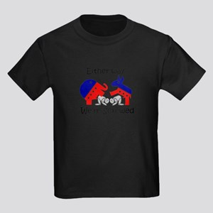 Politically Screwed Kids Dark T-Shirt