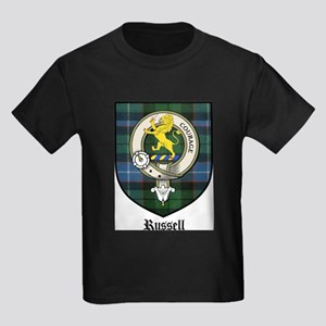 Russell Clan Crest Tartan Kids Dark T-Shirt