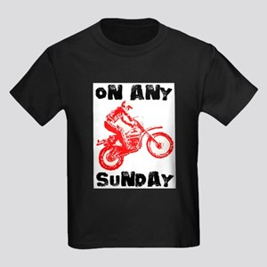 ON ANY SUNDAY Kids Dark T-Shirt