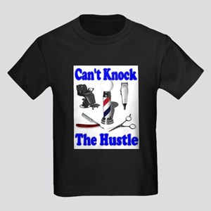 Cant Knock The Hustle-Blue Kids Dark T-Shirt