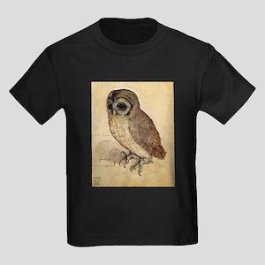 Durer The Little Owl Kids Dark T-Shirt