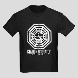 Swan Station Operator Kids Dark T-Shirt