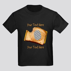 YOUR FACE Grilled Cheese Sandwic Kids Dark T-Shirt