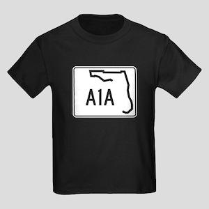 Route A1A, Florida Kids Dark T-Shirt