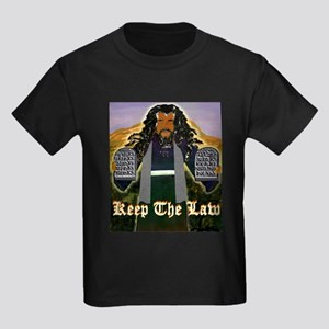 Keep the Law...Moses Kids Dark T-Shirt