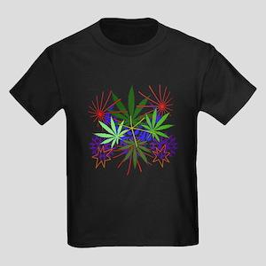 Marijuana Art Kids Dark T-Shirt