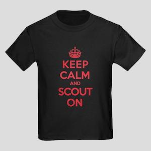 Keep Calm Scout Kids Dark T-Shirt