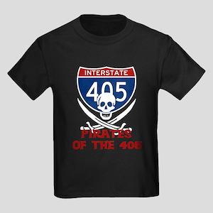 Pirates of the 405 Kids Dark T-Shirt