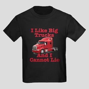 I Like Big Trucks Peterbilt Kids Dark T-Shirt