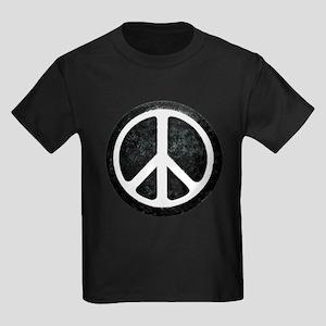 Original Vintage Peace Sign Kids Dark T-Shirt