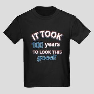It took 100 years to look this good Kids Dark T-Sh