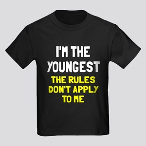 I'm the youngest rules don't app Kids Dark T-Shirt
