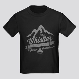 Whistler Mountain Vintage Kids Dark T-Shirt