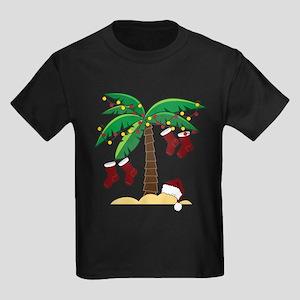 Tropical Christmas Kids Dark T-Shirt