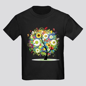 summer tree Kids Dark T-Shirt