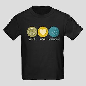 Peace Love Acupuncture Kids Dark T-Shirt