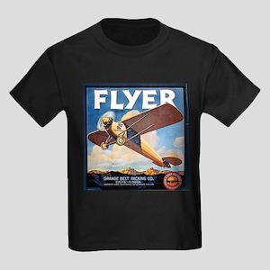 The Orange Ad Plane Kids Dark T-Shirt