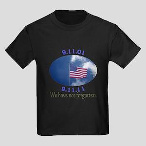 9-11 Not Forgotten Kids Dark T-Shirt