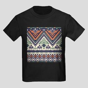 Native Pattern Kids Dark T-Shirt