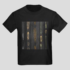 Arrow Feathers Kids Dark T-Shirt