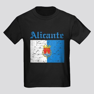 Alicante flag designs Kids Dark T-Shirt