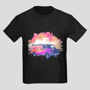 Retro Hippie Van Grunge Style Kids Dark T-Shirt