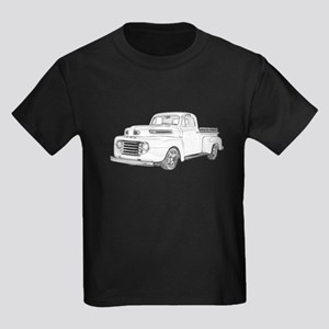 1950 Ford F1 Kids Dark T-Shirt