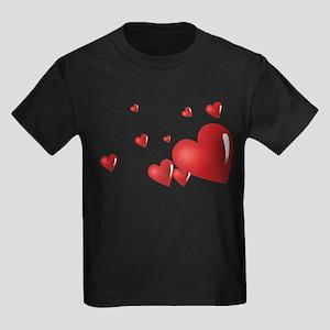 Hearts Kids Dark T-Shirt
