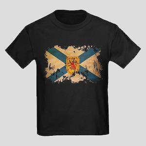 Nova Scotia Flag Kids Dark T-Shirt