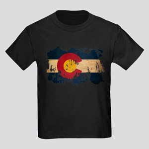 Colorado Flag Kids Dark T-Shirt