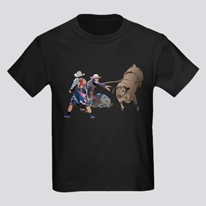 Clowns and Bull-2 without Text Kids Dark T-Shirt
