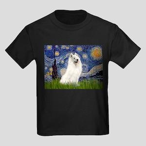 Starry / Samoyed Kids Dark T-Shirt