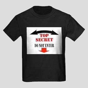CAUTION Kids Dark T-Shirt
