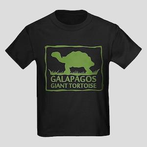 Galapagos Giant Tortoise Kids Dark T-Shirt
