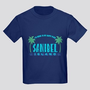 Sanibel Happy Place - Kids Dark T-Shirt