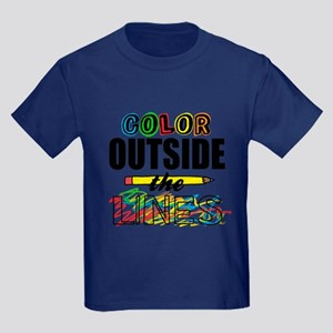 Color Outside The Lines Kids Dark T-Shirt